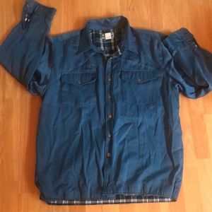 Vintage Blue Ice House Button Up!